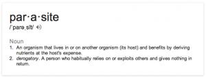 parasite defn