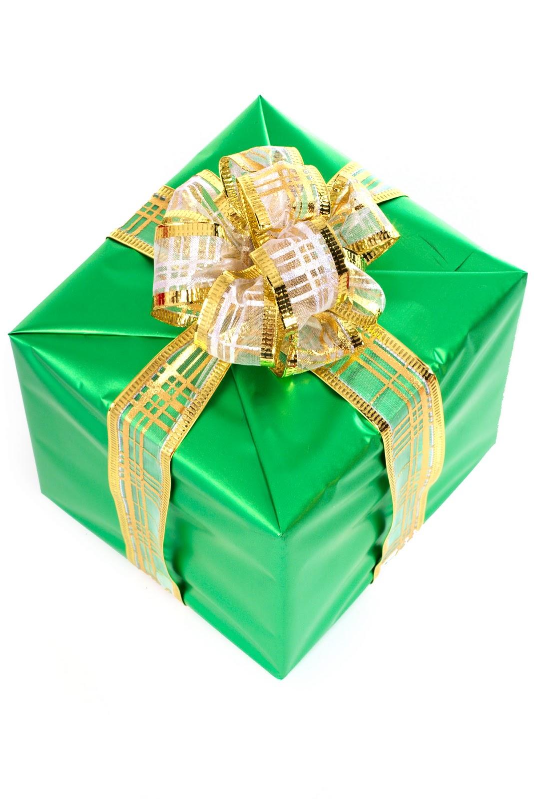 Зеленая упаковка подарка