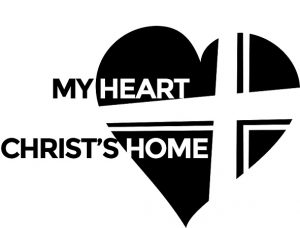 Exceptional image with my heart christ's home printable
